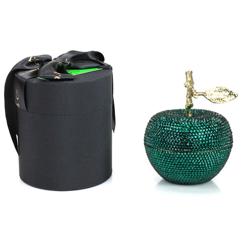 Emerald Enchanted Apple Candle with Crystallized Swarovski Elements