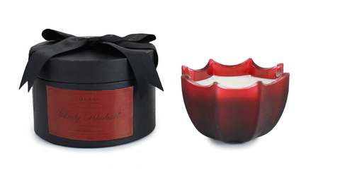 Lady Rhubarb 15oz Scalloped Candle
