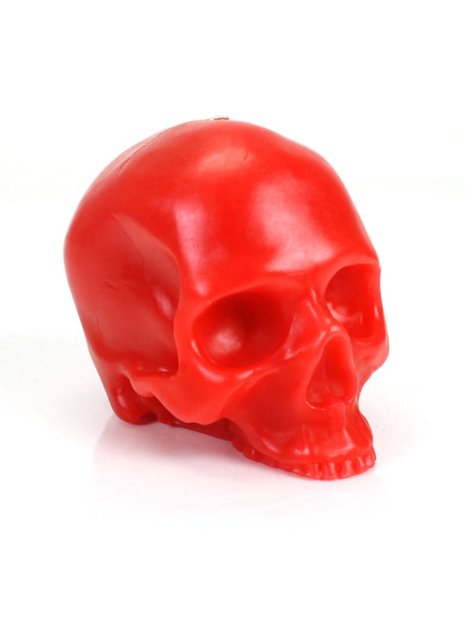 Large Red Skull Candle