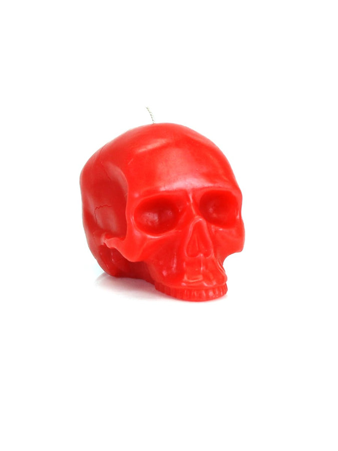 Medium Red Skull Candle