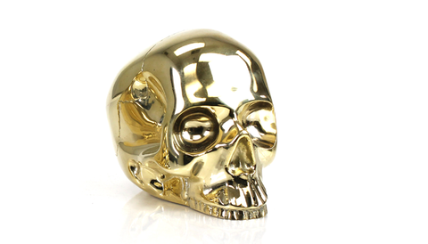 Brass Skull Large - Gold