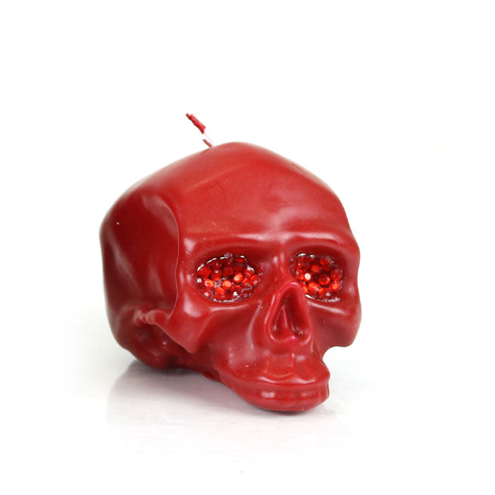 Med Red Skull Crystal Eyes