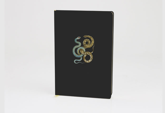 Snake w. Glitter Black Journal