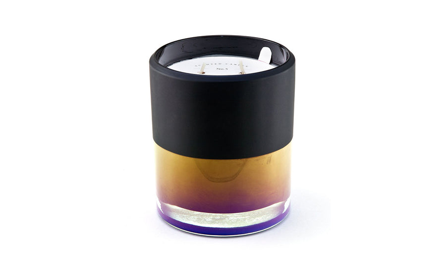 25 oz Ion Plated Black Candle - Luscious Fig & Olivewood