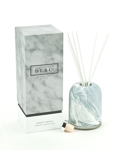 Midnight Tuberose Marble Diffuser - 8.5oz