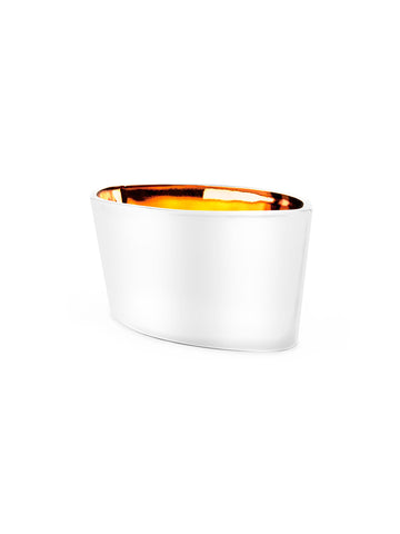 16 oz Boat Candle White/Gold - Iced Citrus & Honey