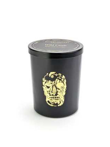 15oz Gold Delft Skull Candle