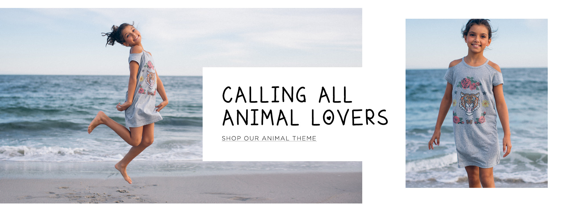 Calling all animal lovers. Shop our animal theme.