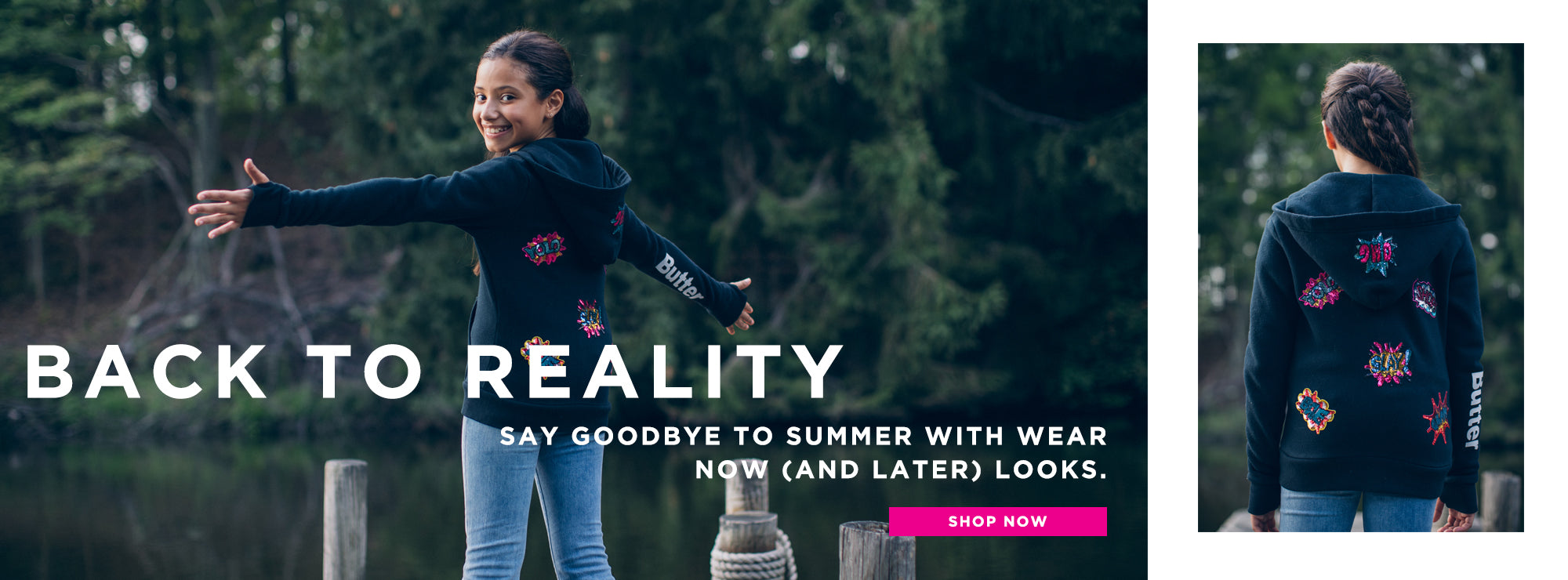 Back to reality. Say goodbye to summer with wear now (and later) looks. Shop now.