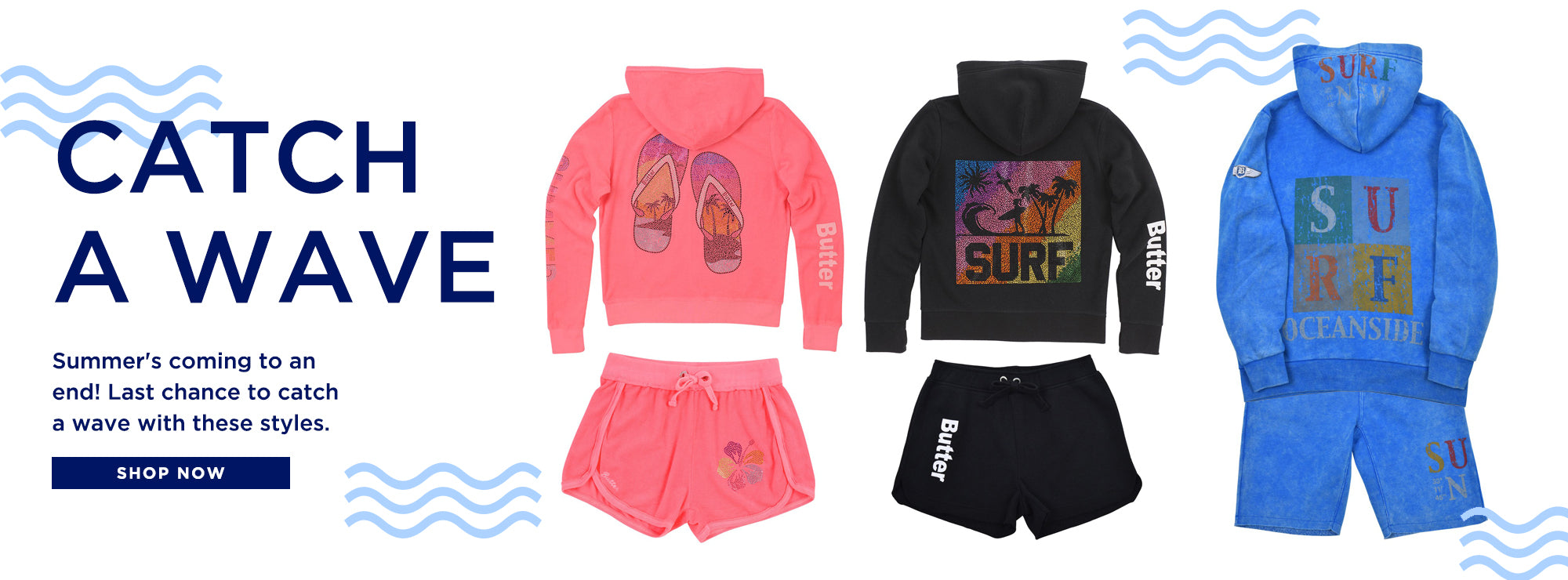 Summer is coming to an end. Catch a wave with these latest Summer styles for kids.
