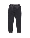 Boys Black Mineral Wash Fleece Jogger