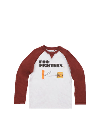 Boys Bright White Boys Colorblock Slub Raglan Tee