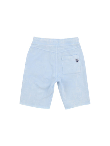 Boys Cerulean Mineral Wash Fleece Short 2 Alternate View