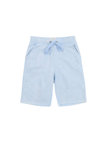 Boys Cerulean Mineral Wash Fleece Short