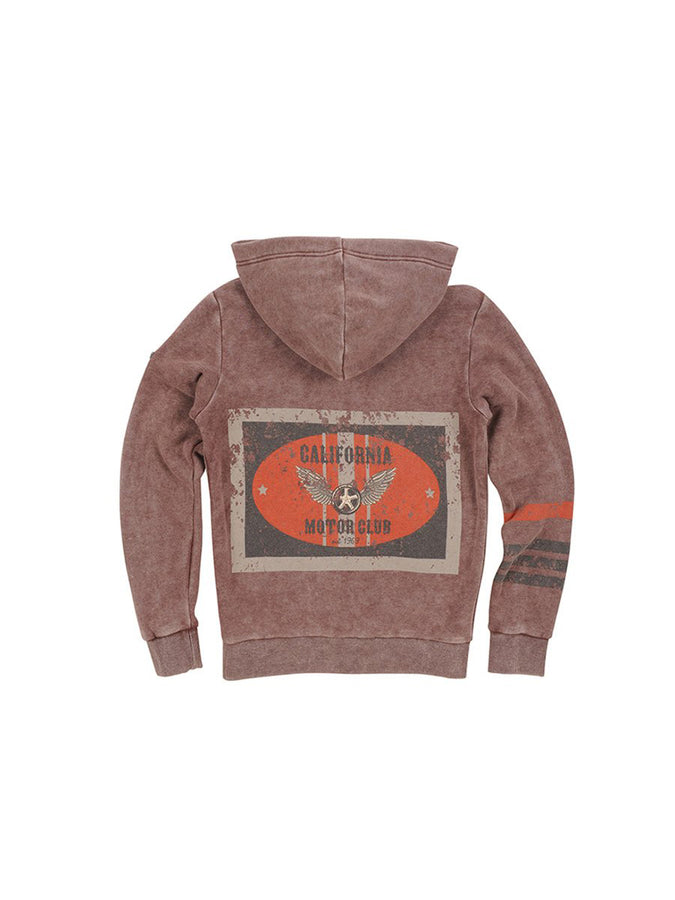 Boys Chocolate Fondant Boys Mineral Wash Fleece Hoodie