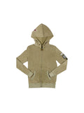 Boys Four Leaf Clover Boys Mineral Wash Zip Hoodie With Print Design