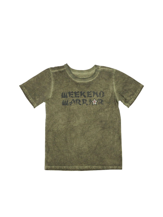 Boys Four Leaf Clover Boys Mineral Wash S/S Tee