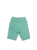 Boys Green Spruce Boys Mineral Wash Fleece Shorts 2
