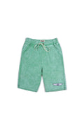 Boys Green Spruce Boys Mineral Wash Fleece Shorts