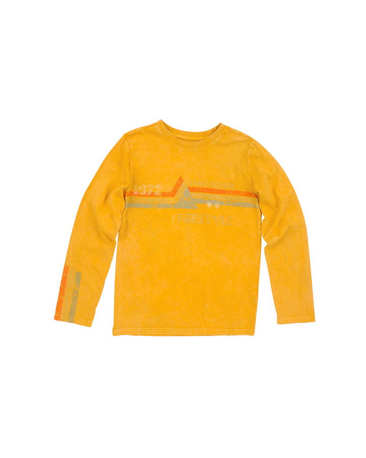 Boys Inca Freestyle Mineral Wash Long Sleeve Shirt