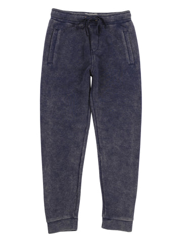 Boys Mineral Wash Fleece Pant - Maritime Blue