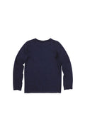 Boys Maritime Blue Boys Jersey Henley Long Sleeve 2
