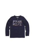 Boys Maritime Blue Boys Jersey Henley Long Sleeve
