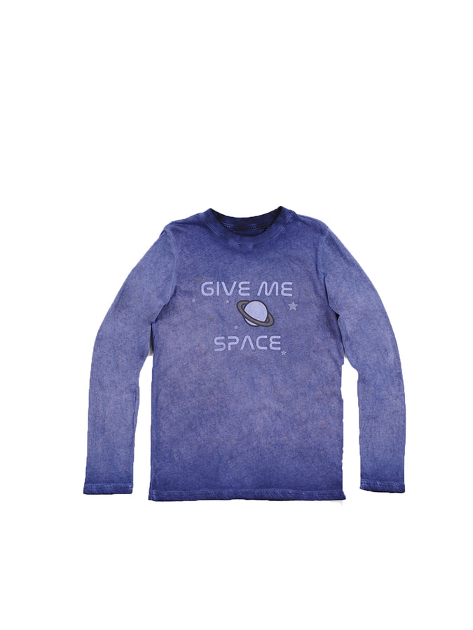 Boys Maritime Blue Boys Mineral Wash Jersey Tee
