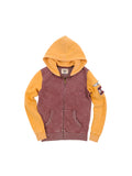 Boys Port/Sunflower Boys Mineral Wash Colorblock Fleece Hoodie 2