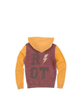 Boys Port/Sunflower Boys Mineral Wash Colorblock Fleece Hoodie