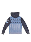 Boys Riviera Boys Colorblock Mineral Wash Hoodie With Print Design