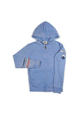 Boys Riviera Boys Mineral Wash Fleece Zip Hoodie With Print Design 2