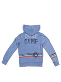 Boys Riviera Boys Mineral Wash Fleece Zip Hoodie With Print Design