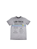Boys Silver Filigree Boys Mineral Wash Jersey Tee With Print Design