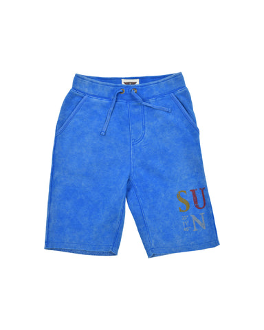 Boys Skydiver Mineral Wash Fleece Short