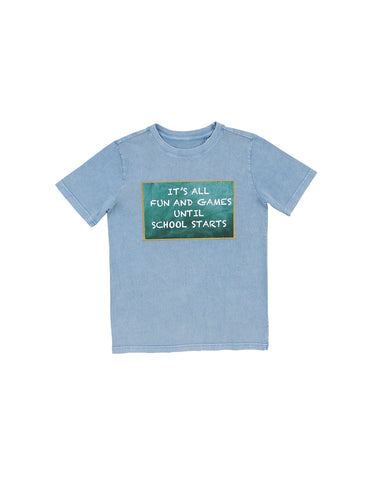 Boys Stellar Fun And Games Mineral Wash T-Shirt