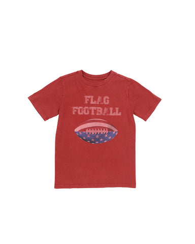 Boys Sun Dried Tomato Flag Football Mineral Wash T-Shirt