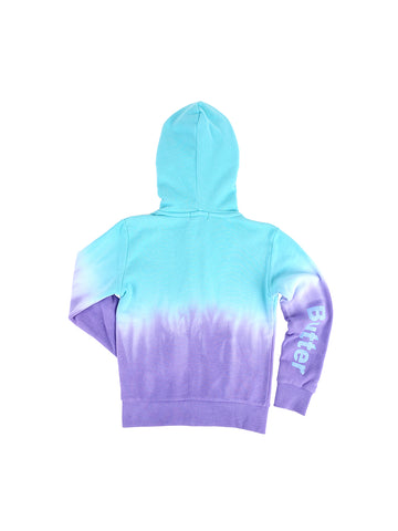Girls Atlantis/Purple Dip Dye Fleece Hoodie