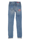 Girls Authentic Blue Super Skinny Super Soft Denim Jean 2