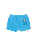 Girls Bayow Blue Dog Burnout Fleece Varsity Short 2