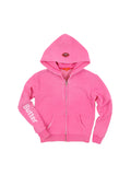 Girls Beetroot Purple Collage Burnout Fleece Zip Hoodie 2