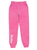 Girls Beetroot Purple Burnout Fleece Varsity Pant