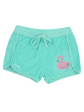 Girls Bermuda Flamingo Float Mineral Wash Terry Short