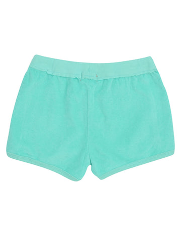 Girls Bermuda Flamingo Float Mineral Wash Terry Short 2 Alternate View