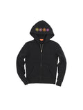 Girls Black Festival Solid Fleece Zip Hoodie 2