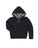 Girls Black Leopard Reversible Zip Hoodie 2 Alternate View