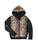 Girls Black Leopard Reversible Zip Hoodie