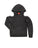 Girls Black Lightning Bolt Burnout Fleece Cold Shoulder Pullover 2 Alternate View