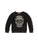 Girls Black Embellished Skull Velour Pullover