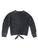 Girls Black Peace Patches Burnout Fleece Tie-Front Pullover 2 Alternate View